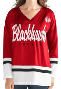 "Chicago Blackhawks Women's G-III NHL ""Game Changer"" Fashion Hockey Jersey"