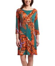 Shift Dress Size 18 Orange & Green -672