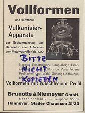 HANNOVER, Werbung 1938, Brunotte & Niemeyer Maschinen-Fabrik Motor Auto Kfz LKW