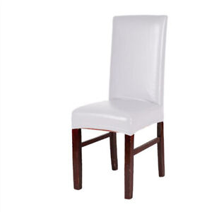 Waterproof PU Dining Chair Covers Slipcover Home Protective Seat Protector Cover