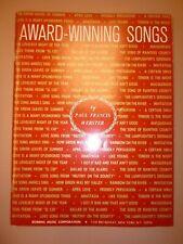 Piano Book: Paul Francis Webster, Award-Winning Songs, songbook, sheet music