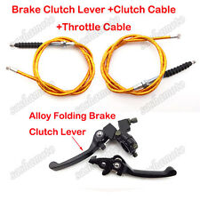 Brake Lever Clutch Throttle Cable Gold For 90cc 110cc 125cc 150cc Pit Dirt Bike