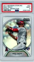 MIKE TROUT 2011 Bowman Sterling REFRACTOR Rookie Card RC 017/199 PSA 9 Mint