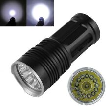 38000LM Flashlight SKYRAY 14 x CREE XM-L T6 LED Hunting Lamp Torch With Rope