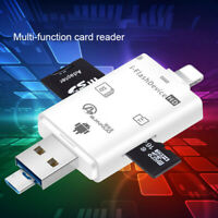 For iPhone Android USB i-Flash Drive SD Micro SD TF Memory Card Reader Adapter