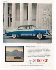 1956 Dodge Custom Royal Lancer 2-tone Blue 2-door Coupe Vtg Print Ad