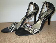 Valerie Stevens Size 9 M Bling Heels Ankle Strap Open Toe Wedding Clubbing