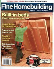 Fine Homebuilding Jan 2011 Built-in bed & Insulation: Fiberglass vs. Cellulose