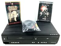 Magnavox CDV220MW9 DVD/VCR Combo 4-Head VHS Player One Touch Recording Tested