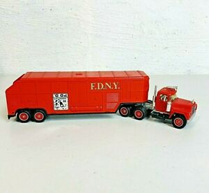 Solido Mack Semi Fire Truck F.D.N.Y. R600 Made In France FDNY