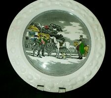 Adams Tour of Doctor Syntax Acorn Rim 8-3/4' Luncheon plate - Dr Sells Grizzle