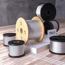 Drahtseil verzinkt 1mm - 20mm 1x7 1x19 6x7 6x19 6x37 Stahlseil DIN Draht Seile
