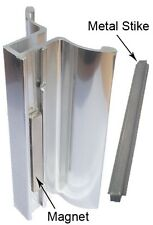 Chrome Frameless Shower Door Handle with Magnet and Stainless Steel Strike Plate
