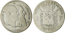 BELGIQUE  , LEOPOLD  I° ET II,  2  FRANCS  ARGENT  INDEPENDANCE 2 ,  1830-1880