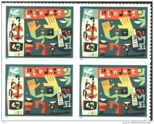 Mint stamp in block  Music Latin Jazz 2008  from USA  US  avdpz