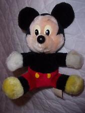"Vintage Disney Mickey Mouse 8"" Plush Soft Toy Stuffed Animal"
