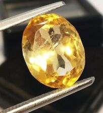 Loose Gemstone 100 %Natural Citrine 5.20 Ct Certified Oval Shape Brazilian