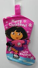 DORA THE EXPLORER CHRISTMAS STOCKING Feliz Navidad Ice Skating Girls Child NEW