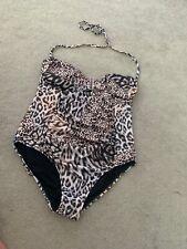 ladies size 16 LIPSY Bandeau style swimming costume animal print VGC