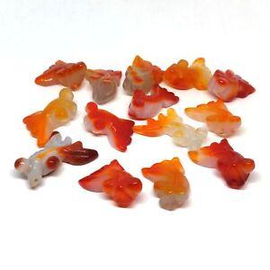 Koi Fish Agate Stone - Focal Bead