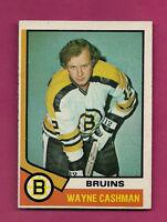 1974-75 TOPPS # 206 BOSTON BRUINS WAYNE CASHMAN  EX+ CARD (INV#2607)