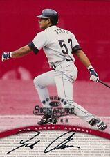 BOBBY ABREU 1997 Donruss Signature Series Red Autograph Philadelphia Phillies