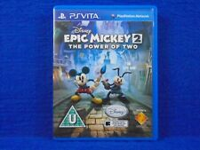 PS VITA EPIC MICKEY 2 The Power Of Two Disney Game Playstation PAL UK PSVITA