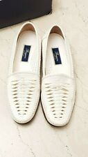 Mens cole haan bragano hand made in Italy leather loafers shoes 12 Cristallo