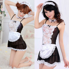 Fashion Women's Costume Cosplay French Maid Princess Outfit Fancy Dress  aua
