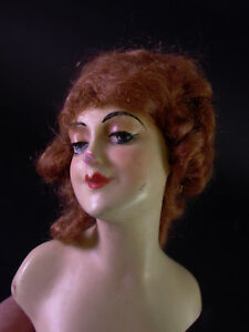 Art Deco  Wiener Künstler Kopf  Puppe & Karton - Puppenkopf & Hände für Teepuppe