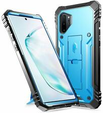 Galaxy Note 10 Plus Case [w/Kick-stand] Poetic® Dual Layer Shockproof Cover Blue