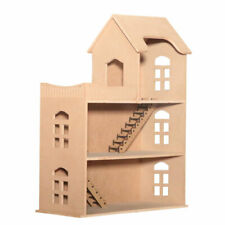 Dekorative Puppenhaus aus Holz zum bemalen | 3 Modelle | Puppen Häuser