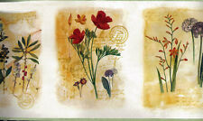 Framed Gardened Red Flower Wallpaper Border 12582 KBE