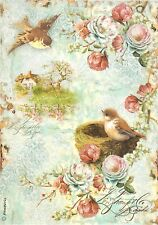 Rice Paper for Decoupage Scrapbook Craft Sheet Wonderland Fantasy