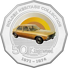 2016 Holden Heritage Collection Kingswood Classic Car 50c Coin in Card