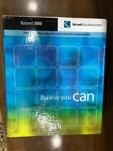 NEW Kurzweil 3000 Educational Systems Windows 7 Version PC CD ROM Book NOS Read