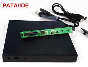 USB 2.0 IDE CD DVD RW Burner PATA Optical Drive External Enclosure Case Only