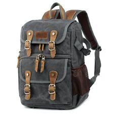 Fashion Camera Backpack Digital Camera Case Leather Bag for Canon Nikon Sony