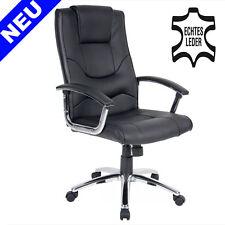 LEDER Bürosessel Büro Chefsessel Schreibtischstuhl Office Drehstuhl Sessel Stuhl