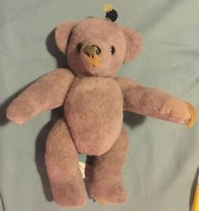 """Vintage JIENETTE GAGNE HAND CRAFTED JOINTED TEDDY BEAR 11"""" Bear W/ Honey"""