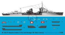 Peddinghaus 1/1250 Z5 Paul Jacobi Kriegsmarine Destroyer Markinngs WWII 3271