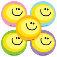 Smiley Face Stickers x 10 - Reward Charts Favours Teachers SMILE Stickers Party