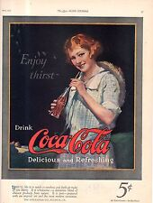 """1923 Original Full color Coca Cola ad - Very Rare   11X14"""""""