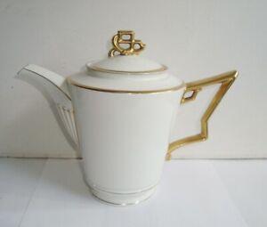 ART DECO ROSENTHAL TIRANA PORCELAIN GILT COFFEE POT TEAPOT