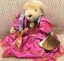 Muffy VanderBear 1991 BAL MASQUE BEAR in Pink Party Dress w/ Fan-Shaped Gold Tag