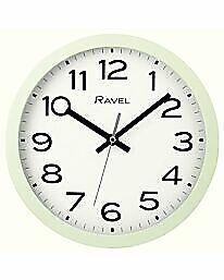 Ravel Kitchen Office 25cm Wall Clock  New  Boxed 4 Colours Available
