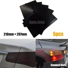 5pcs A4 Paper Size Mini Smoked Dark Tint Taillight Vinyl Sheet Film Stickers