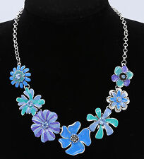Summer Women Sun Flower Ocean Blue Collar Choker Necklace Pendent Jewelry UK