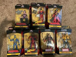 Marvel Legends Strong Guy Wave Complete Set NO BAF pieces. 7 Figure Deadpool Lot