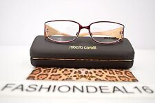 New Roberto Cavalli Piombo Burgundy Gold 424 205 53-17-130 RX Eyeglasses